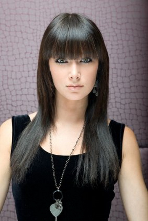 Remarkable Long Hairstyles With Bangs Women Hairstyles Short Hairstyles Gunalazisus