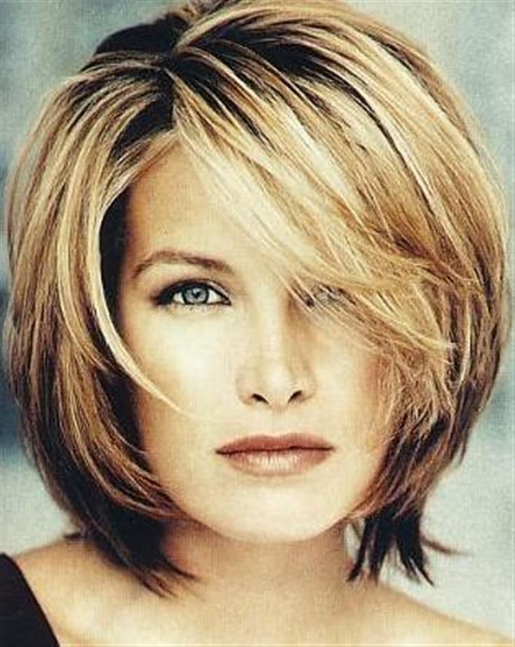 Layered bob for women over 40