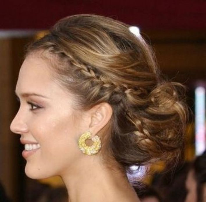 braided hairstyles for prom : Prom Hair With Braid Braided prom hairstyle