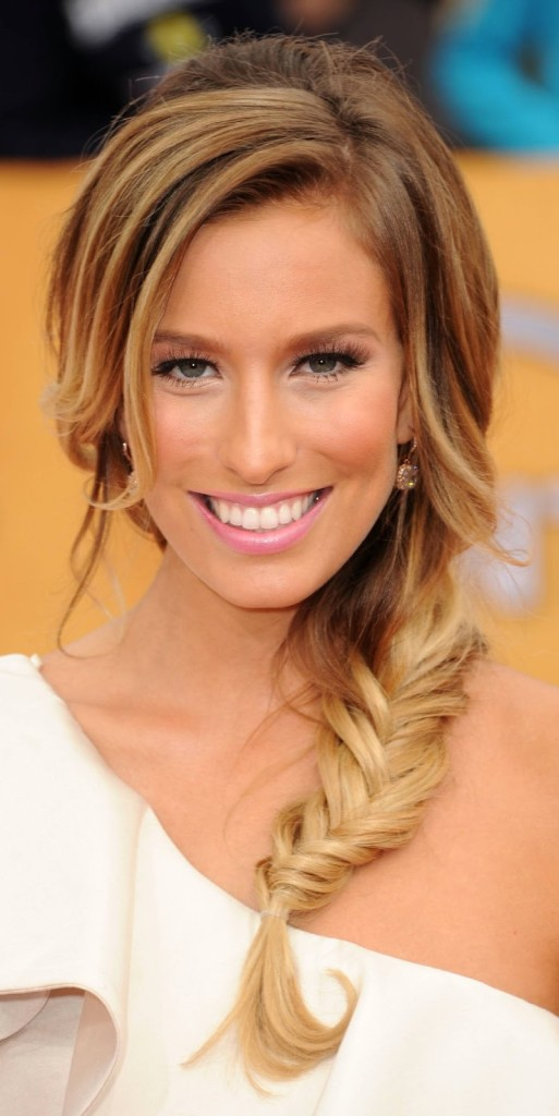 side-braid for mid-length hair