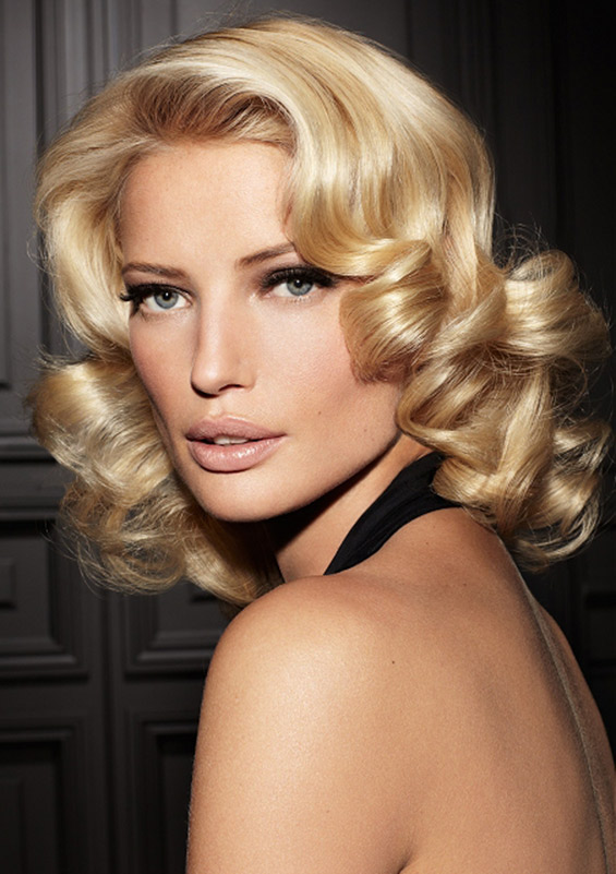 Vintage Curly Bob Mid Length Hair Women Hairstyles