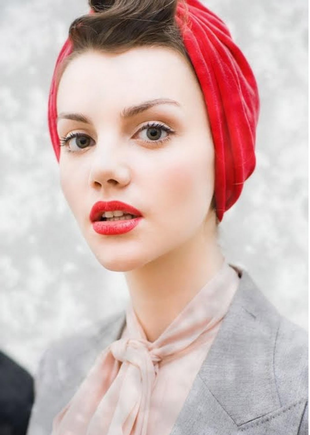Turbans are a great hair accessory for short hair.