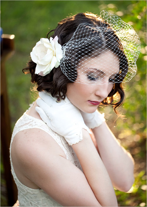 wedding style idea for short hair