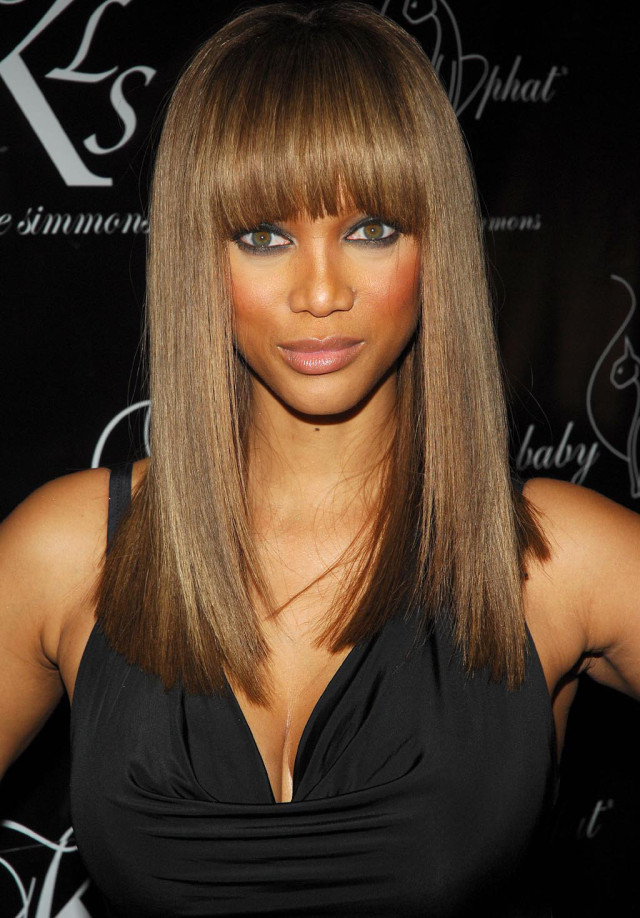 Blunt Fringe for Women with Oval Faces