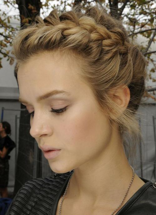 Awe Inspiring Cute French Braid Hairstyle For Prom Women Hairstyles Short Hairstyles For Black Women Fulllsitofus