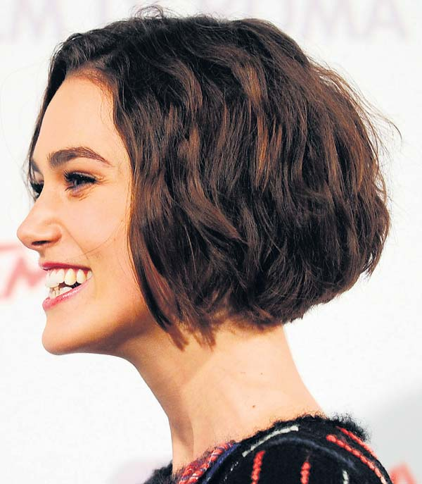 Wavy Choppy Hairstyles : Keira knightly wavy choppy short bob hairstyle women hairstyles