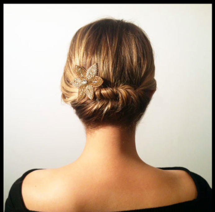 Hairstyles For Short Hair For Work : short-and-simple-twisted-hairstyle-for-women-to-wear-work - Women ...