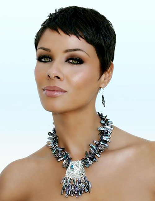 short feminine close cropped haircut for black women