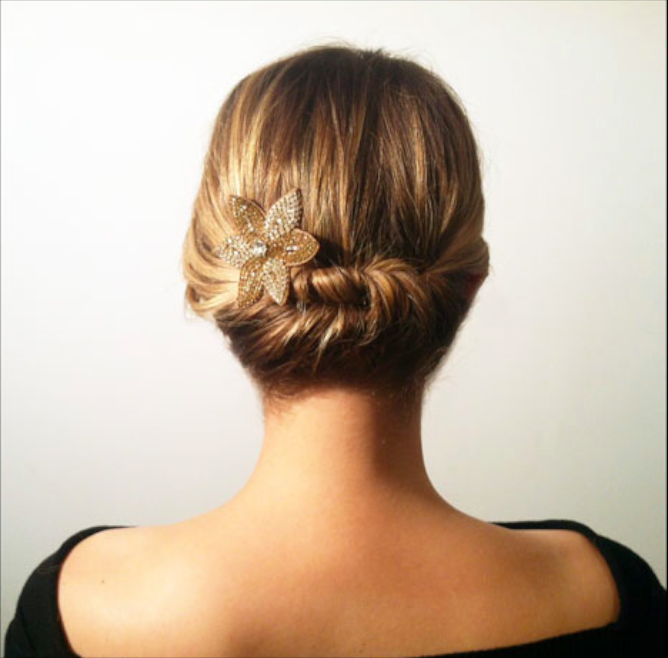 Easy Updo For Short Hair How To : Simple twisted hairstyle for short hair women hairstyles