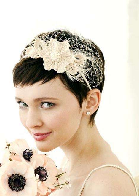 Very short wedding hairstyle
