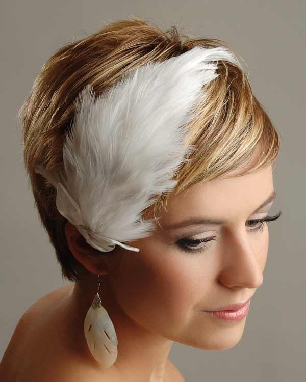 Wedding hair piece for women with short hair