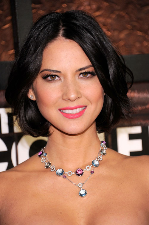Celebrity-with-chin-length-haircut-Olivia-Munn