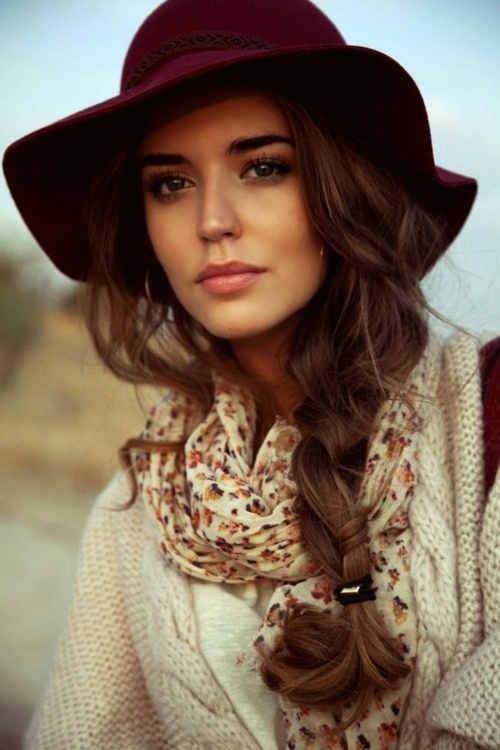 Side-braid-with-fashion-winter-hat