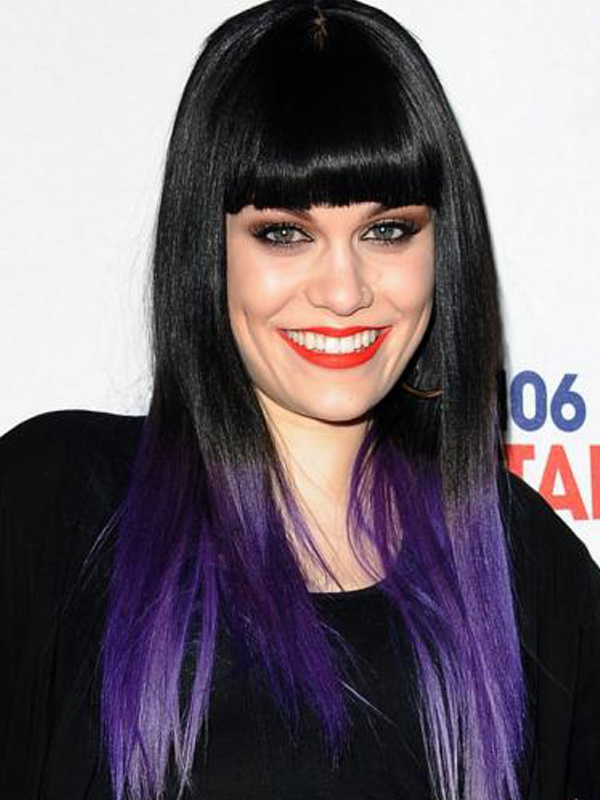 celebrities with dipdyed hair color women hairstyles