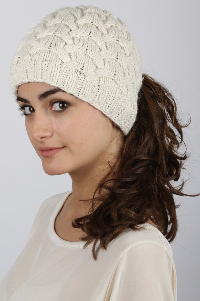 side-swept-ponytail-with-hat