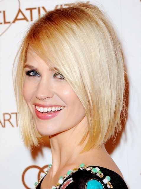 Classic Blunt Bob Hairstyles Blonde Straight Hair