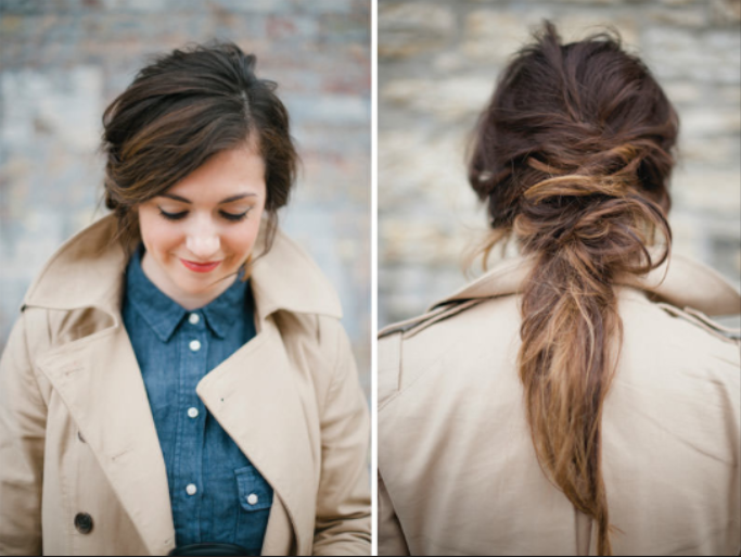 Beautiful messy hairstyle : Messy and chic hairstyles women