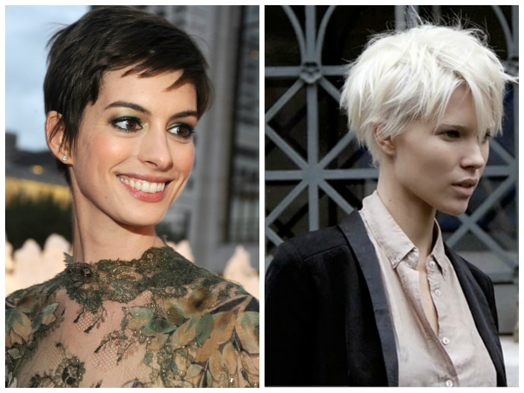 Edgy Pixie Haircuts for Oval Face Shape