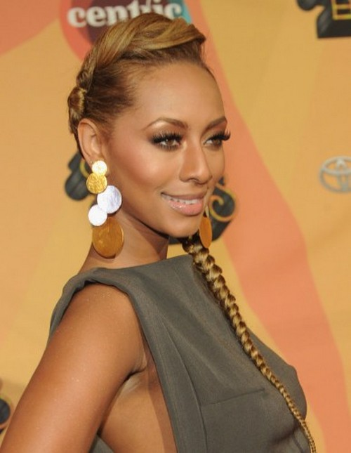 Keri Hilson Black Prom Dress 41st NAACP Image Awards Red