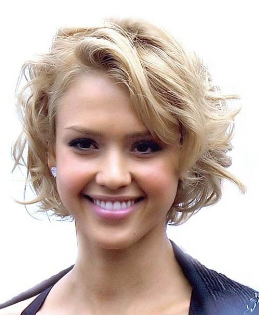Chin-Length-Curly-Haircut - Women Hairstyles