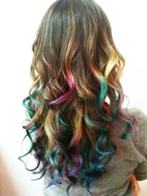 Hair Chalk Highlights Hairs Picture Gallery