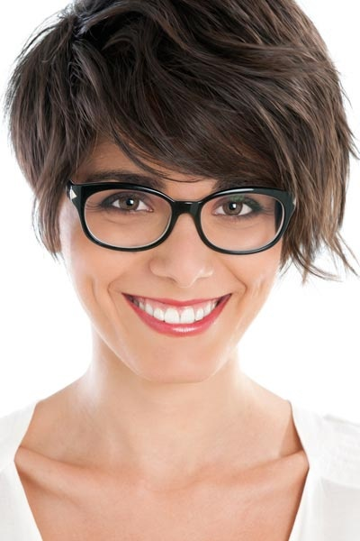 Asymmetrical-Haircut-for-glasses - Women Hairstyles
