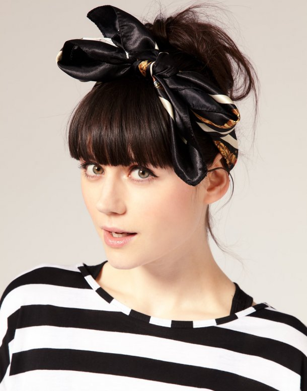 Silk-Scarf-for-summer-hairstyles