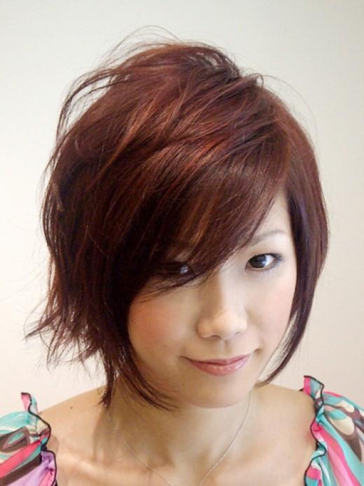 Face round volume hair