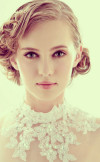 Short curly bold bridal hairstyles