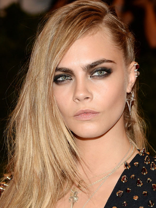Cara-Delevingne-hair-pinned-back