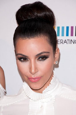 Celebrity hair bun with Kim Kardashian