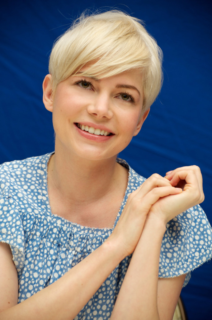 Blonde Hair with Pixie Cut
