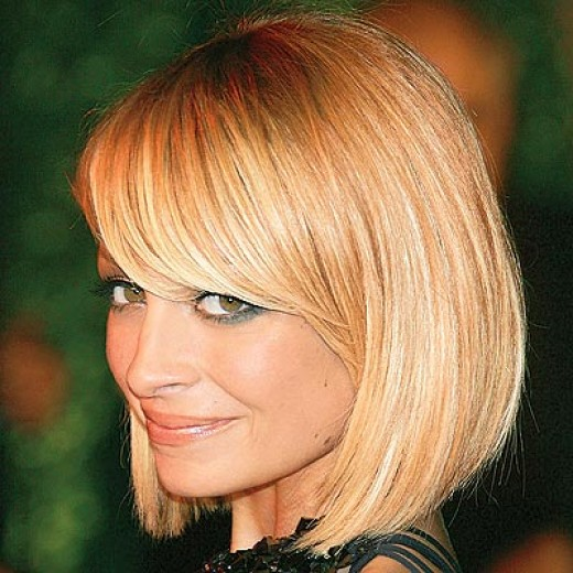 Bob Haircut With Side Swept Bangs Women Hairstyles