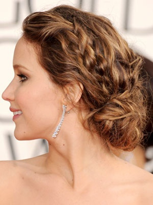 Braids with Side Bun for Mid-Length Hair