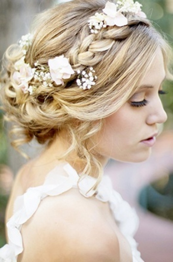 Bridal Hair Flower Ring Women Hairstyles