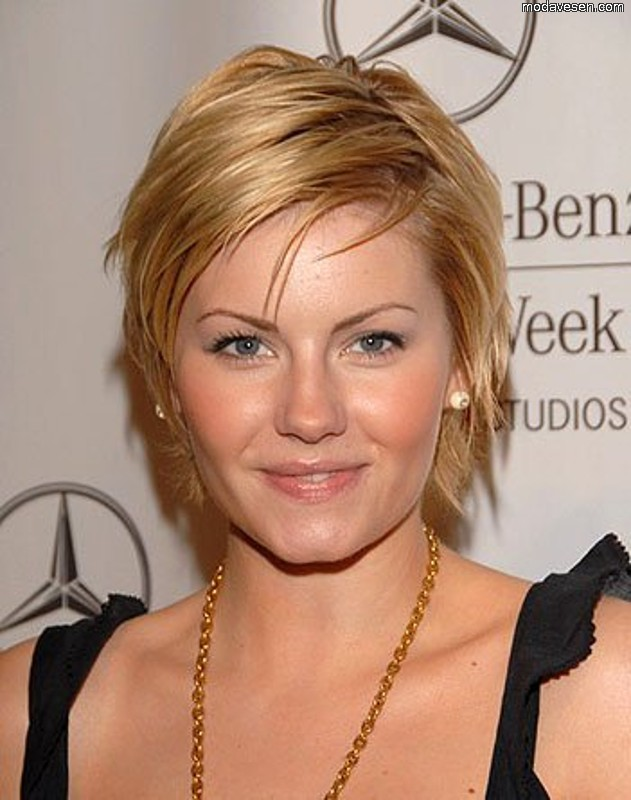 Deconstructed Pixie Haircut Round Face Shape Women