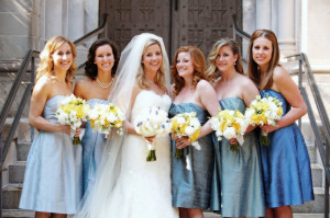 Bridesmaids hairstyles that compliment the bride
