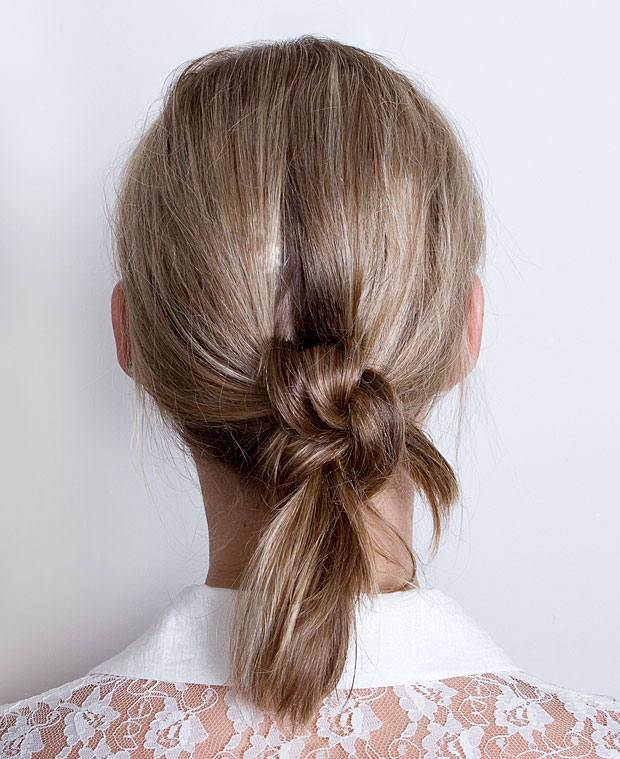 The Double Knotted Ponytail