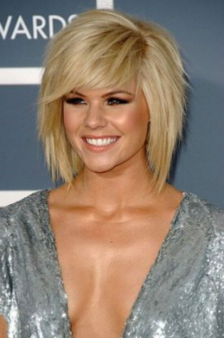 medium length layered straight haircuts