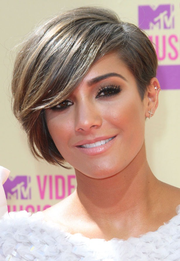 Short Hair With Side Swept Fringe Women Hairstyles