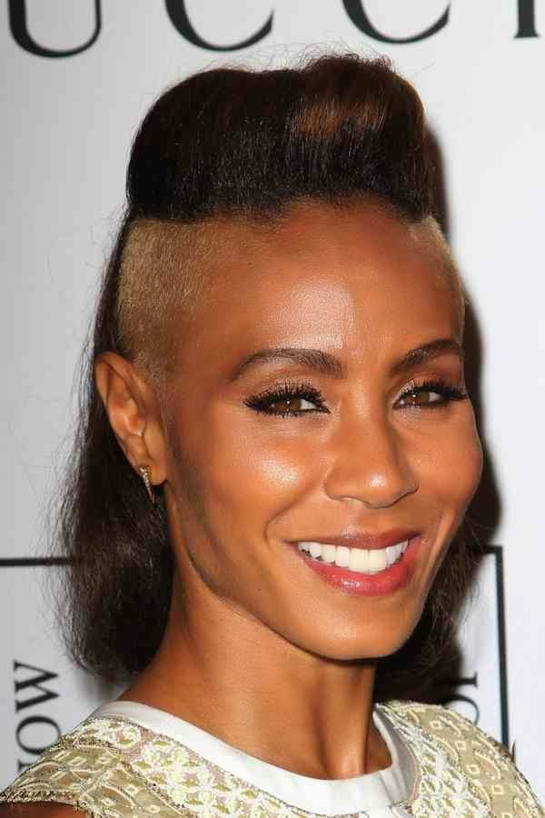 Celebrities With A Shaved Edgy Look Hairstyle Women