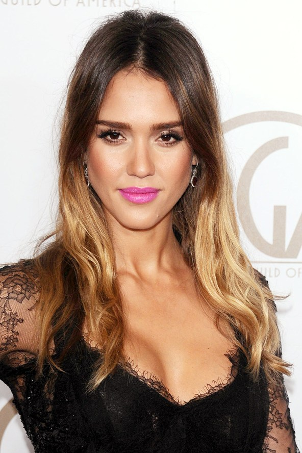 Jessica-Alba-Two-Toned-Hair-Color