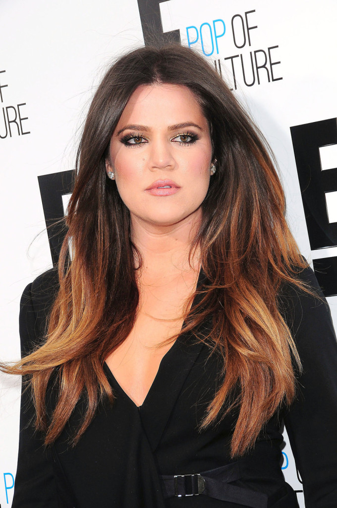Khloe-Kardashian-Two-Toned-Hair