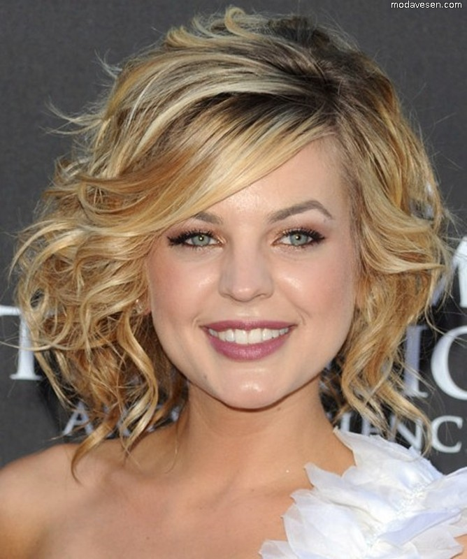 Curly Bob Hairstyle With Bangs Women Hairstyles