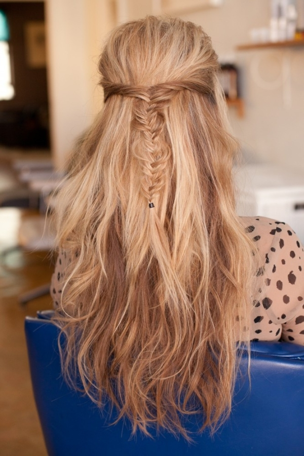 half hair style half up half braided hairstyle hairstyles 5219