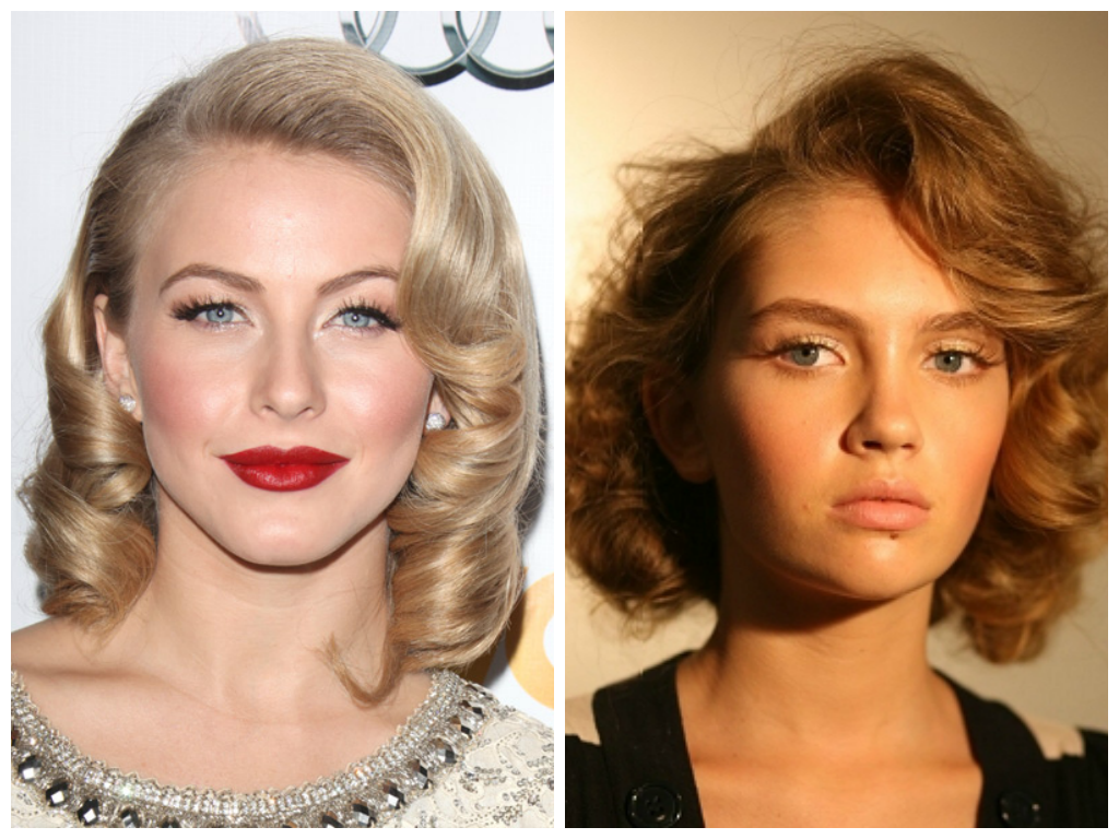 Vintage Hairstyle With Hot Rollers