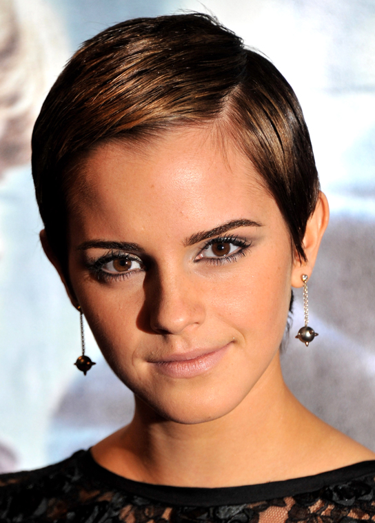 Emma Watson Short Pixie Hair Cut And Hair Style Women