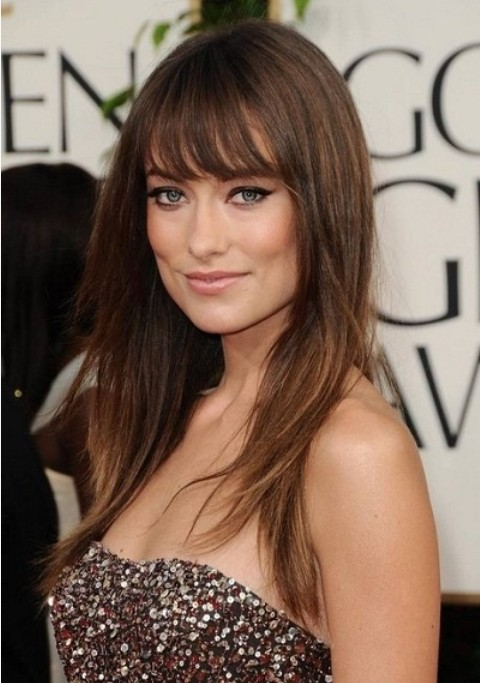 Olivia Wilde Bangs For Square Face Women Hairstyles