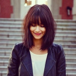 Gorgeous Blunt Bob With Full Blunt Bangs Women Hairstyles