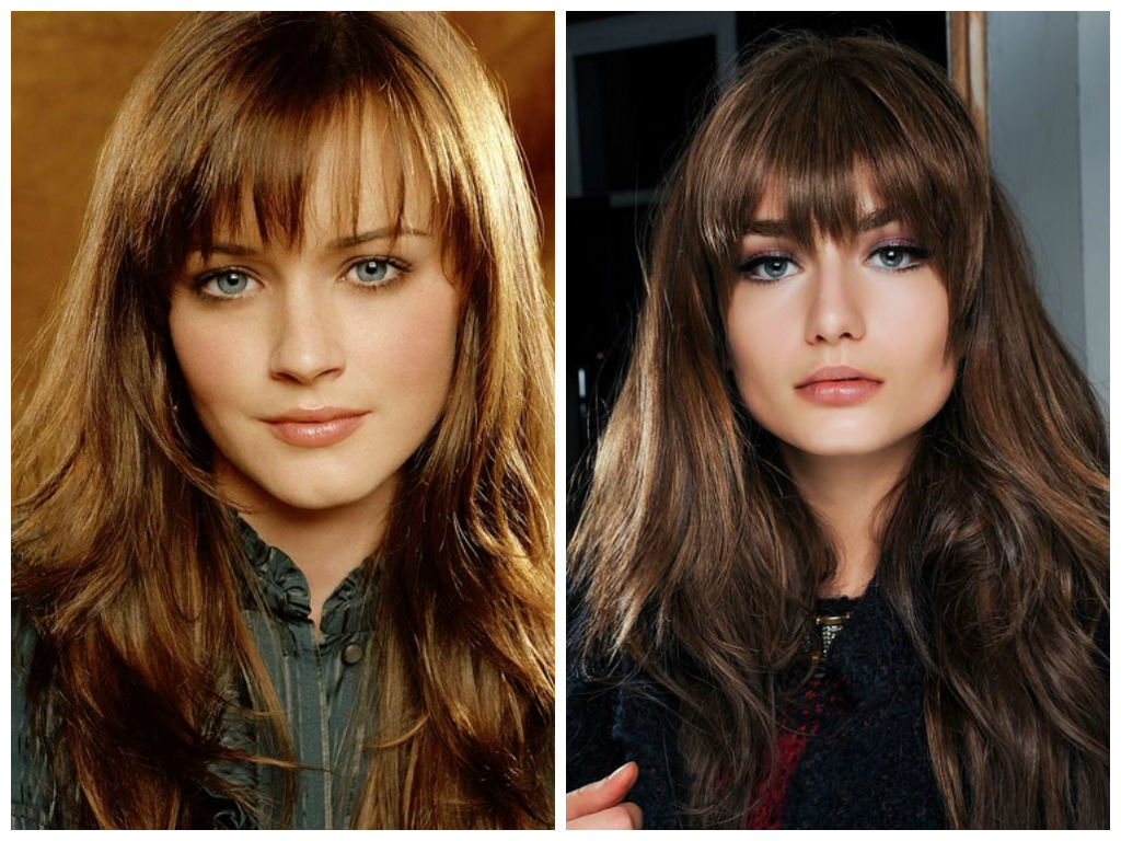 different long fringes for long hair - women hairstyles